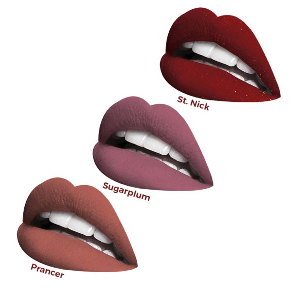 Merry Little Kisses: Velvetmatte Liquid Lipstick Trio Set